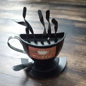 Metal Coffee Cup Wall Decor